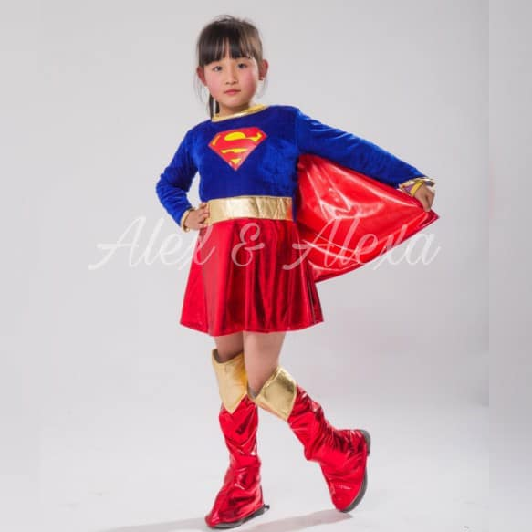 ... SUPERGIRL DELUXE Girls Superhero Dress Costume - Alex u0026 Alexa Costume Boutique ...  sc 1 st  Alex and Alexa Costume Boutique and Photography Studio & SUPERGIRL DELUXE Girls Superhero Dress Costume - ALEX u0026 ALEXA PH