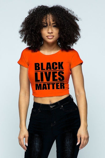 Black Lives Matter Crop Tees