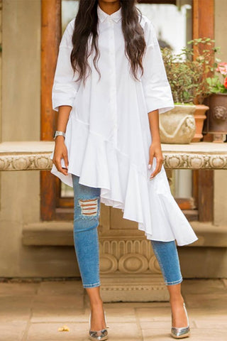 Summer Twirl High Low Shirt Dress
