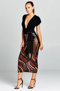 Dare to Be Cute Sequin Wrap Dress
