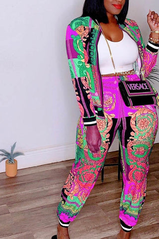 Barocco 2Piece Jogger Set** Sizes Small - 3XL **Pre-Order Ships 9/20