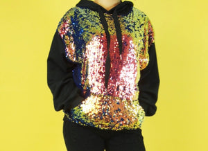 Glamm Sequin Sweatshirt
