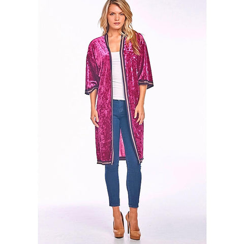 Oh So Chic Velvet Cardigan