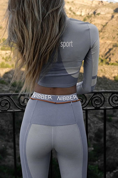 Running Girl Light Gray 2 Piece Set