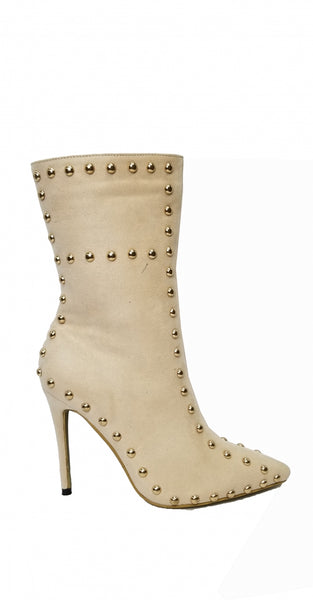 Gold Studded Bootie