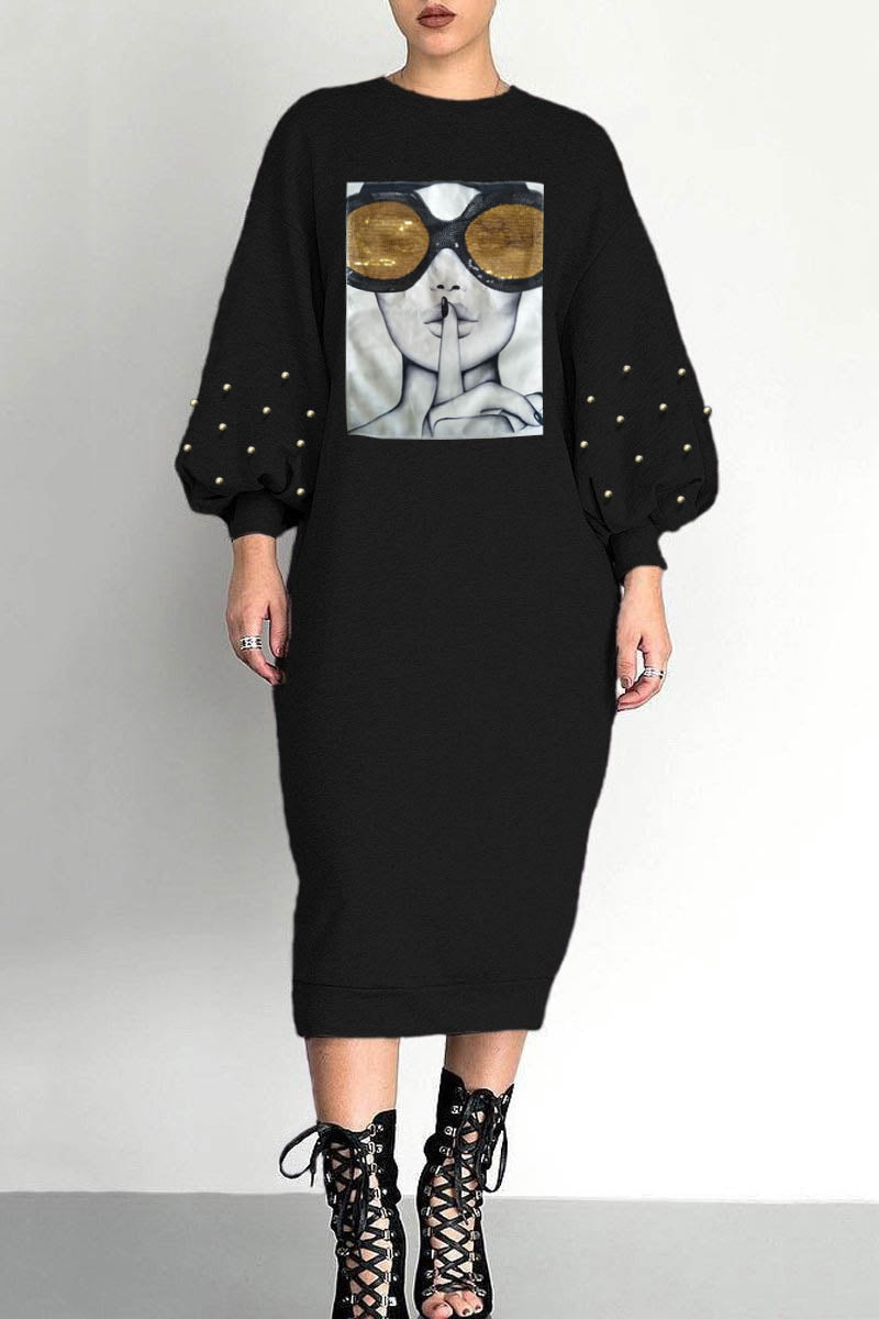 Shhh..Sweater Dress in Black *Sizes Small - XL**Pre-Order Ships 9/20