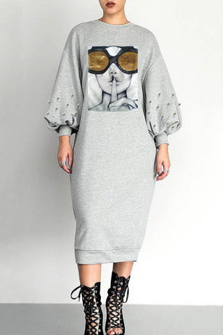 Shhh..Sweater Dress in Gray *Sizes Small - XL