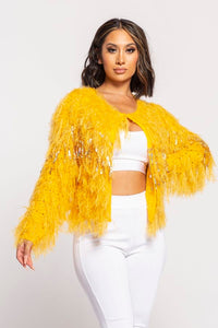 Mandy Sequin Glitter Shaggy Sweater