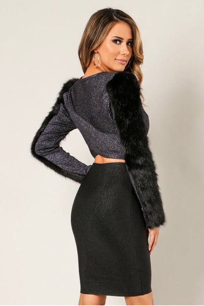 Fabulous & Furry Cropped jacket