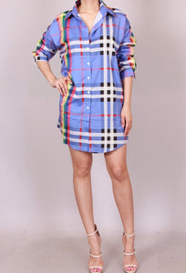 Check me out shirt dress