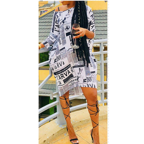 Ivision Magazine Print Dress