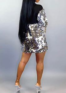 Sparkle & Slay Sequin Dress with Hood