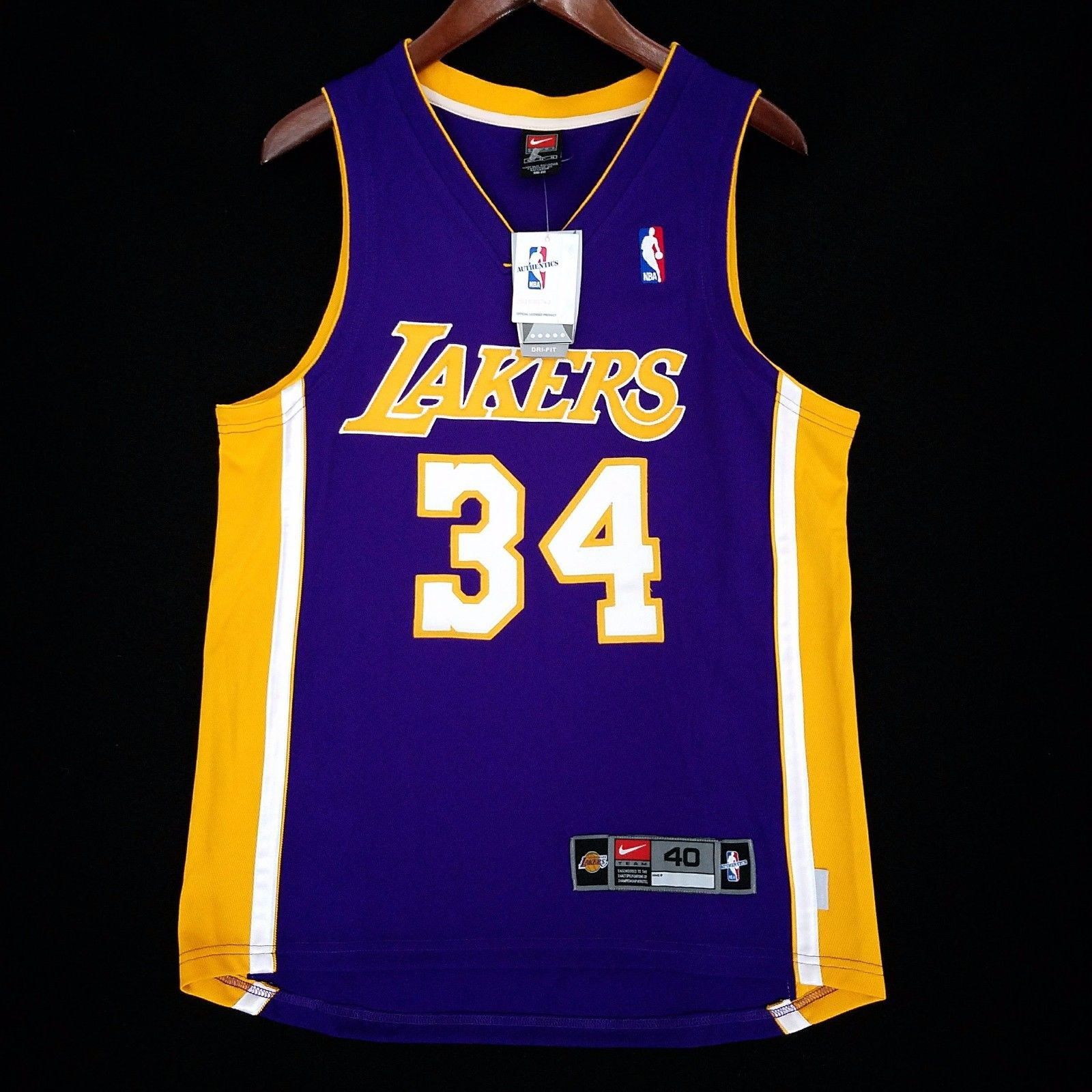 13c31abb4 ... JERSEY » Shaquille O Neal Los Angeles Lakers Nike Authentic Jersey.  Shaquille ...