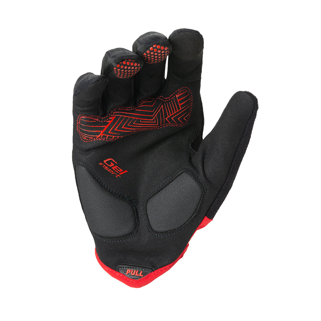 GUANTES LARGOS TRIP | BLACK/RED