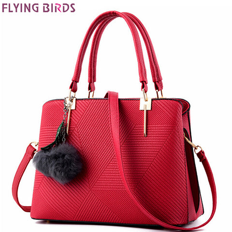 FLYING BIRDS handbag for women, leather tote famous brands designer messenger bag, crossbody high quality bag LM4137fb