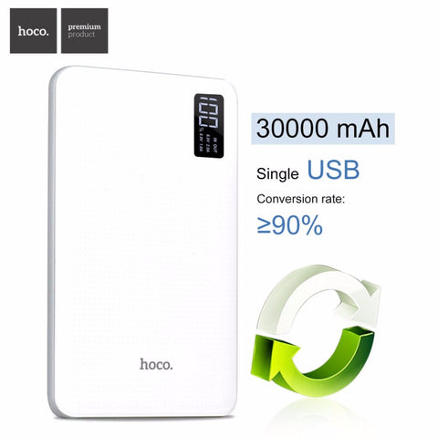 Xiaomi Power bank 30000mAh Portable Charger With Display Triple USB Mobile Phone External Battery For iPhone