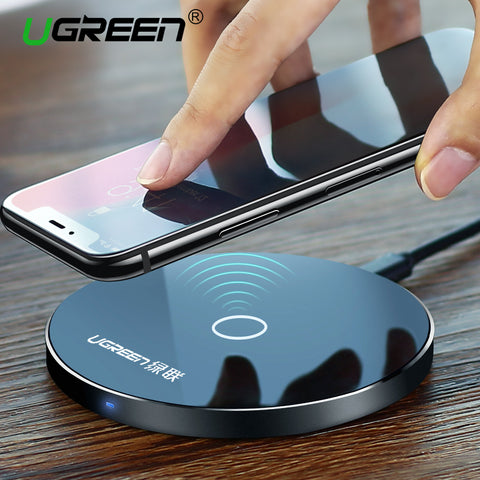 Ugreen Original Wireless Charger Charging Pad for Samsung Galaxy S8 Edge Plus for iphone 8 10 Charging