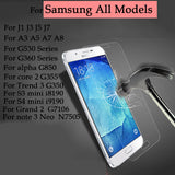 For Samsung Galaxy J5 J7 ect all Series  Phone Tempered glass Guard film 9H 0.27mm Ultra Thin Real Premium Screen Protector Film