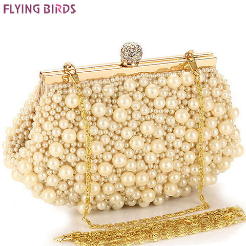 FLYING BIRDS ! women handbags Beaded bag women bag clutch ladies chain evening bags messenger bags clutch pouch LS1430