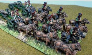 Painted 15mm Russian Napoleonic Foot Artillery Limbers