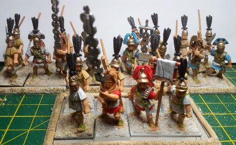 28mm painted aventine republican roman miniatures