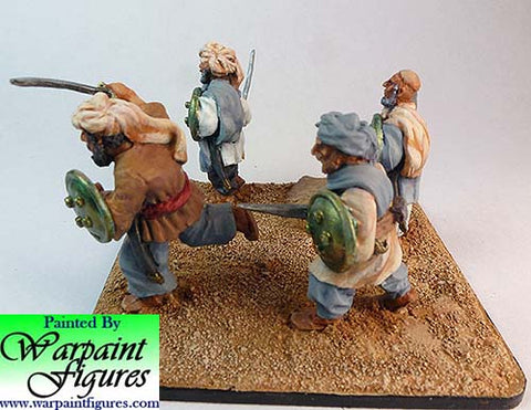 2nd Afghan War Pathans from Ironclad Miniatures with hand weapons by Warpaint figures