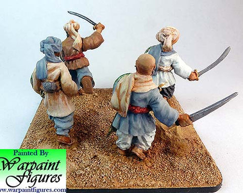Pathans with hand weapons 2nd Afghan War by Warpaint figures