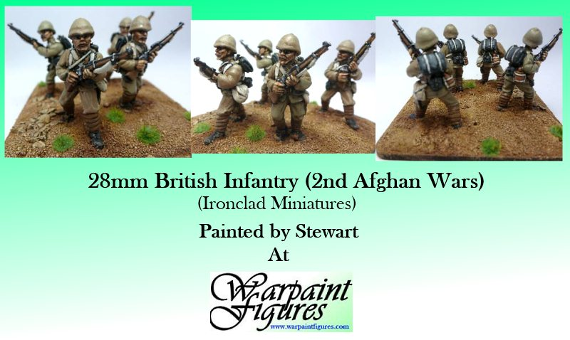 Warpaint Figures Miniature Painting - 28mm 2nd Afghan Wars British Infantry painted
