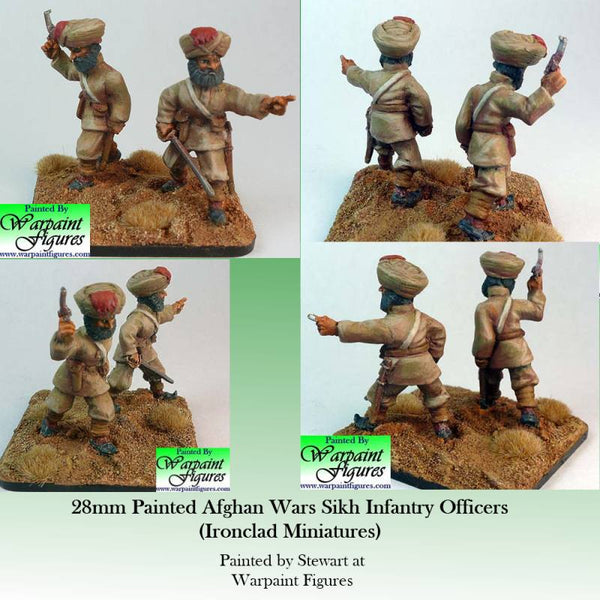 2nd Afghan Wars Sikh Officers painted by Warpaint Figures