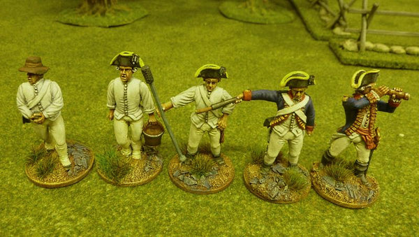 Painted 40mm AWI Front Rank British Artillery crew - Warpaint Figures