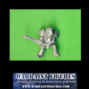 OOP 40K 1991 Space Marine Librarian With 2 Handed Force Sword