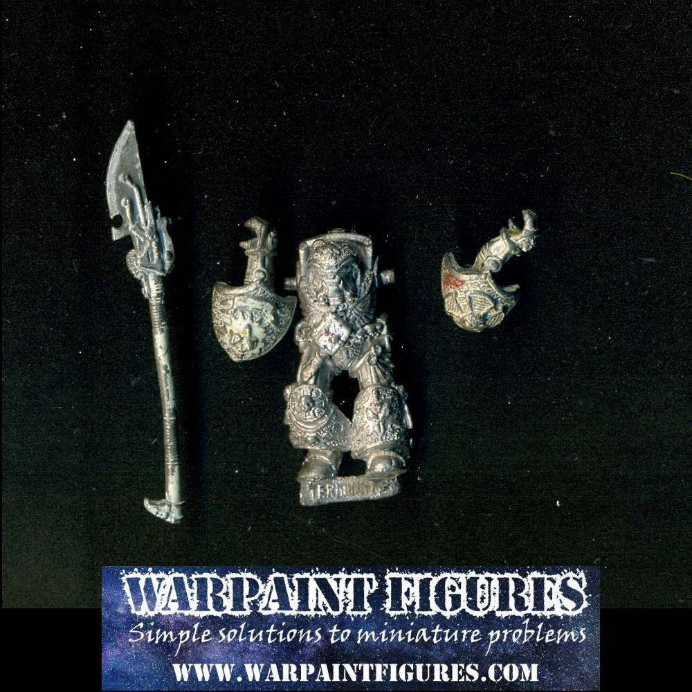 Warpaint Figures - Classic Oldhammer and rare OOP Warhammer 40K Space Marines Grey Knight Terminator.