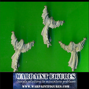 Warpaint Figures - OOP 2000 Warhammer Fantasy Battle Vampire Counts 3 x GW Spirit Host Figures