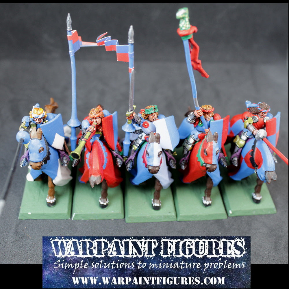 OOP 1997 Brettonian Knights Errant With Command x 5 #2 (Painted)