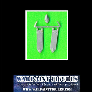 OOP GW WFB Plastic Dark Elves banner bits for conversions