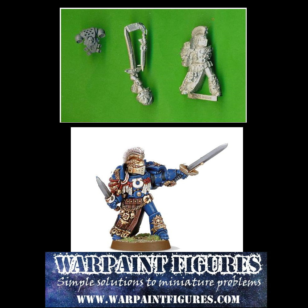 For Sale - Warpaint Figures - Rare 40K Metal Honour Guard Champion (From The Marneus Calgar set)
