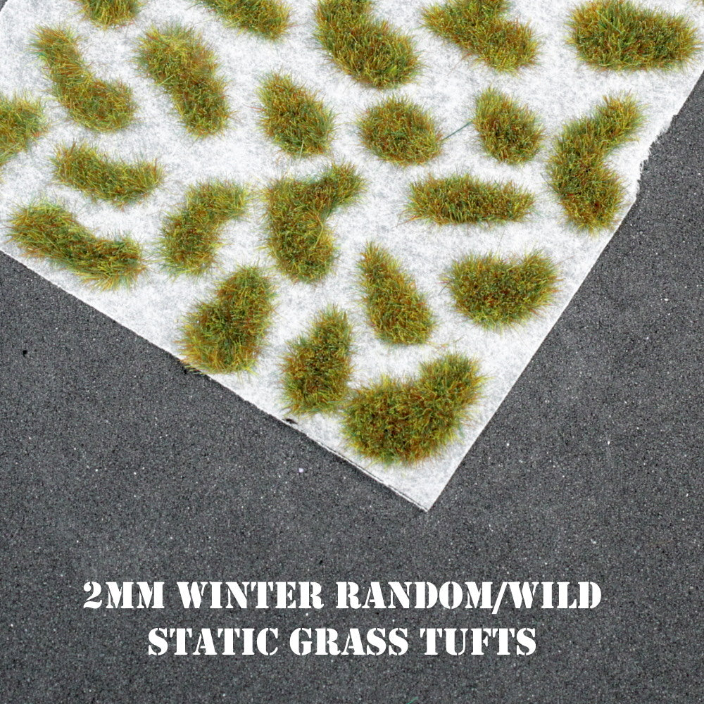 2mm Winter Random Self Adhesive Static Grass Tufts
