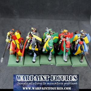 OOP WFB 1997 Brettonian Knights Errant  x 5 #1 (Painted)