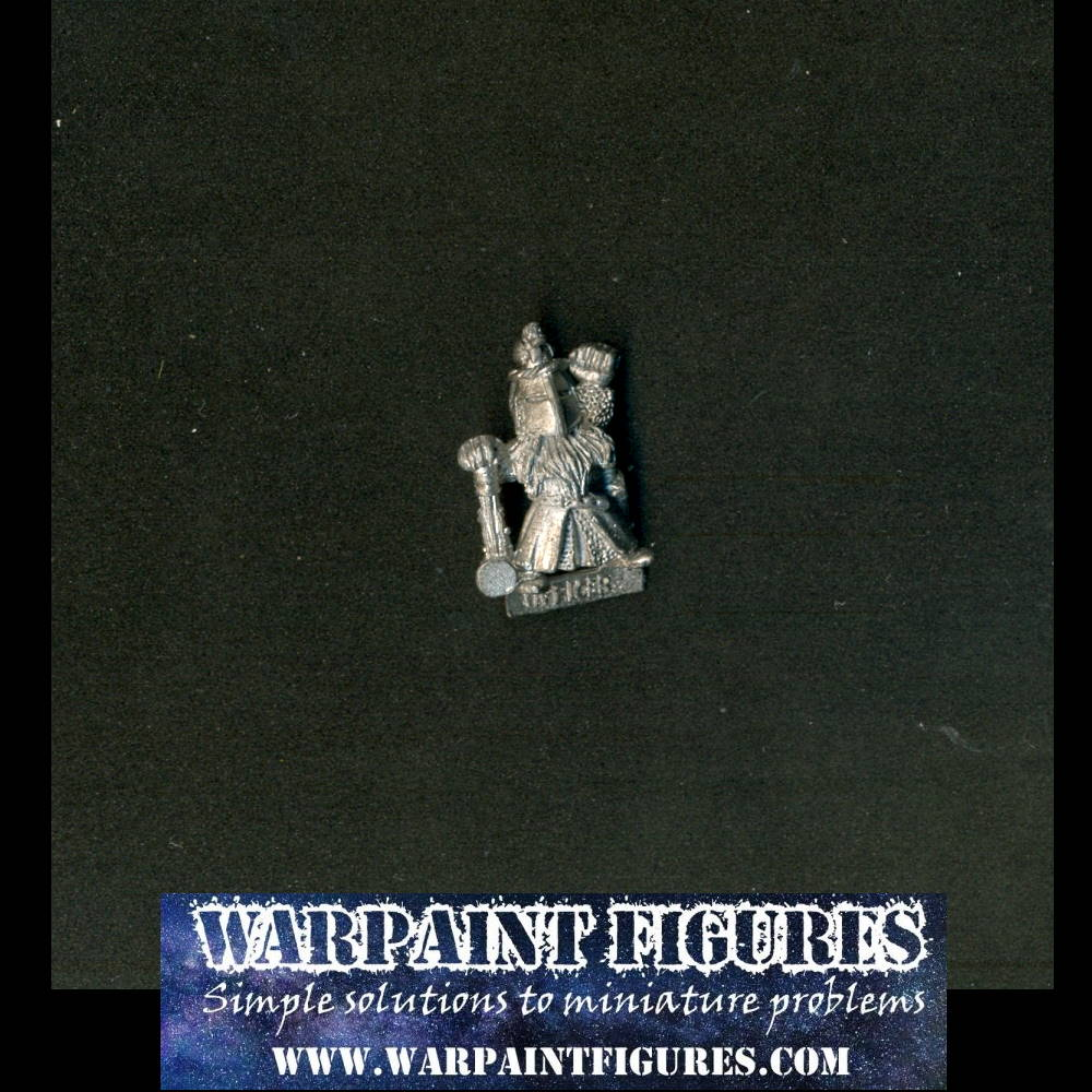 Warpaint Figures - 1987 Games Workshop Oldhammer Warhammer Fantasy Dwarf Officer for Sale