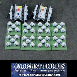 Warpaint Figures - Painted Epic 40K Space Wolves Terminator Detachment for sale