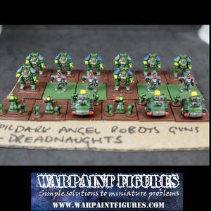Epic 40K Space Marines Dark Angel Robots Dreadnaughts Guns