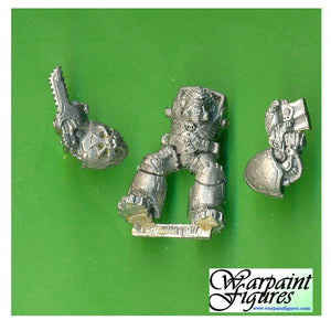 OOP 1989 40K Space Marines Terminator With Chain Fist #2
