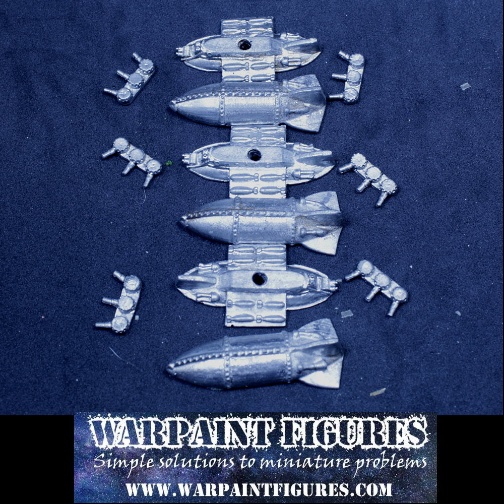For Sale - Rare OOP 1992 Epic 40K Squat Overlord Airships x 3