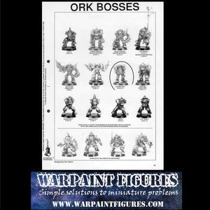 OOP 1991 Warhammer 40K Ork Boy Boss with Plasma Gun
