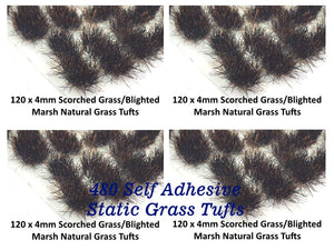 SAVE 15% - 4mm Big Bundle Natural & Wild Static Grass Tufts