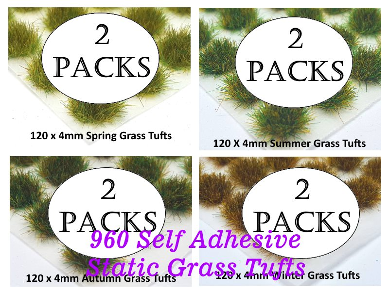 SAVE 20% - 4mm Giant Bundle Static Grass Tufts - Standard