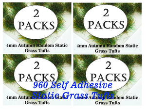 SAVE 20% - 4mm Giant Bundle Natural & Wild Static Grass Tufts