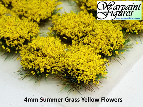 4mm Summer Flowers Self Adhesive Static Grass Tufts