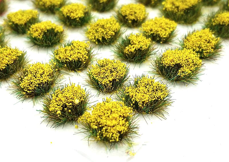 4mm Spring Flowers Self Adhesive Static Grass Tufts