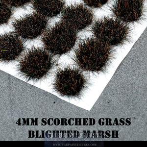 Warpaint Figures | 4mm Blighted Marsh Self Adhesive Grass Tufts | Warhammer 40K, AOS, Age Of Sigmar, Wargaming basing scenery and terrain